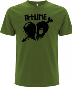 Preorder * Shirt Motiv HERZ (Fair wear, Earth positive) - LEAF GREEN
