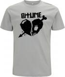 Preorder * Shirt Motiv HERZ (Fair wear, Earth positive) - LIGHT GREY